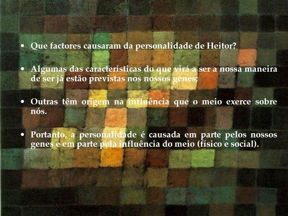 Que factores causaram da personalidade de Heitor