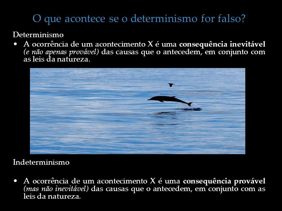 O que acontece se o determinismo for falso