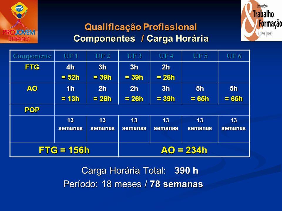 Qualificação Profissional Componentes / Carga Horária