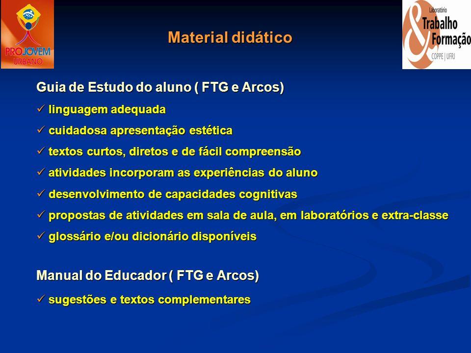 Material didático Guia de Estudo do aluno ( FTG e Arcos)