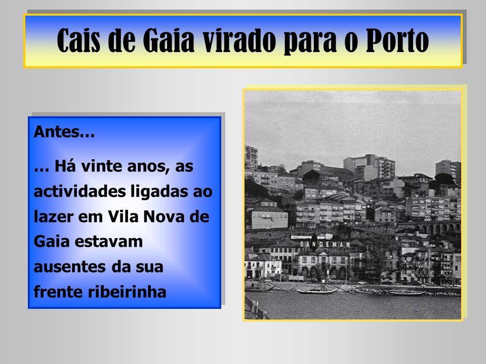 Cais de Gaia virado para o Porto