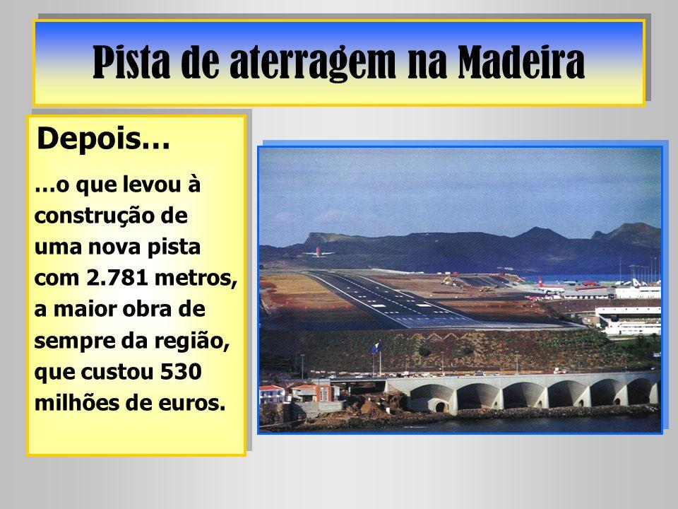 Pista de aterragem na Madeira