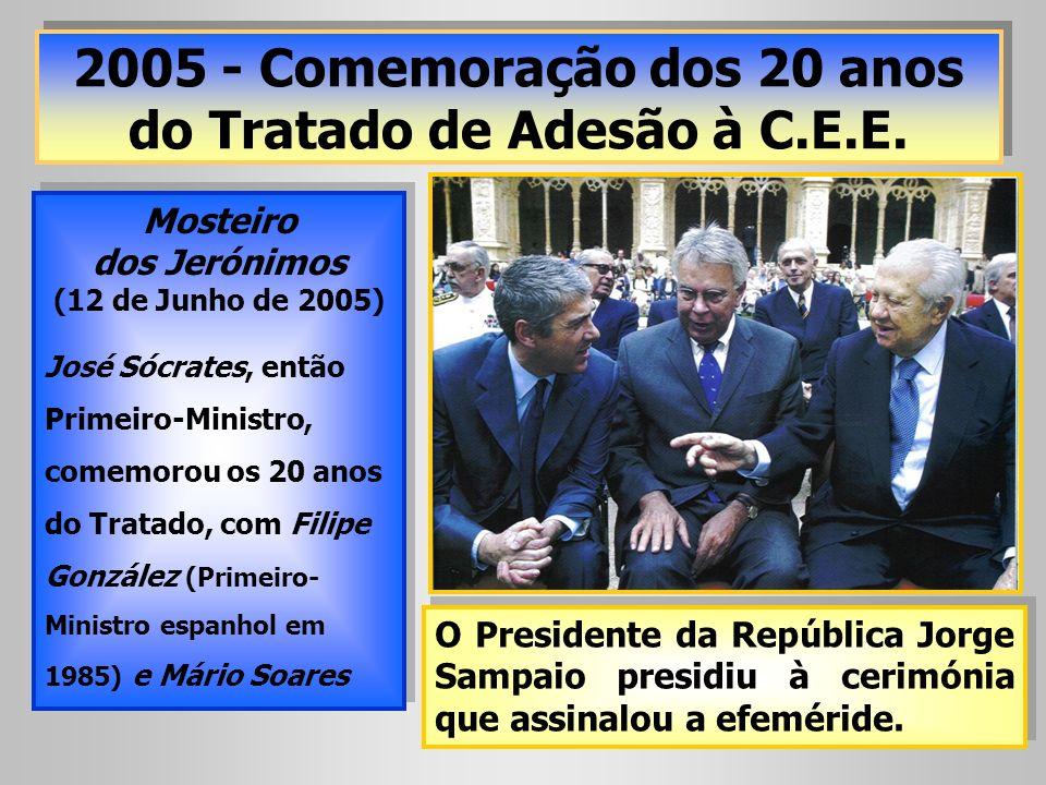 2005 - Comemoração dos 20 anos do Tratado de Adesão à C.E.E.