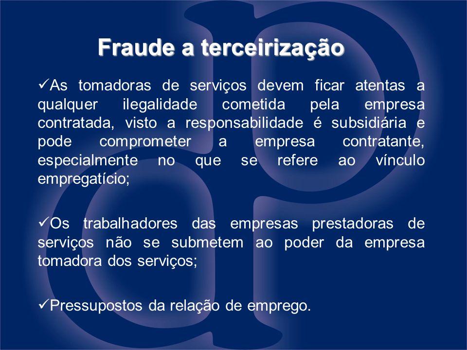 Fraude a terceirização