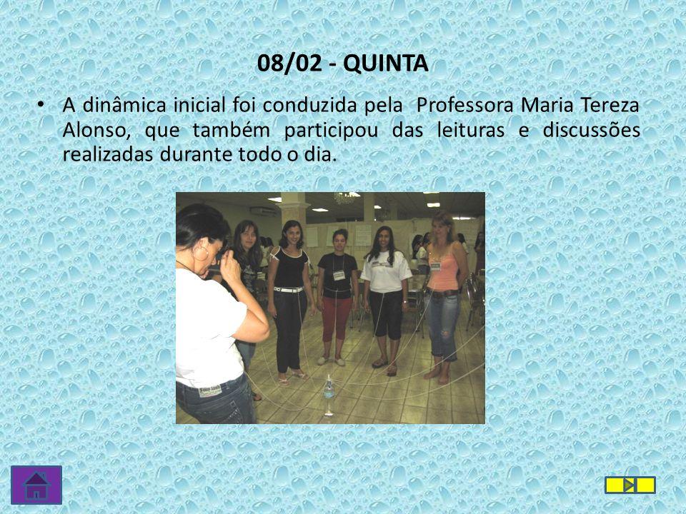 08/02 - QUINTA