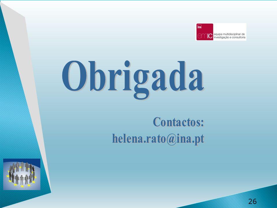 Obrigada Contactos: helena.rato@ina.pt