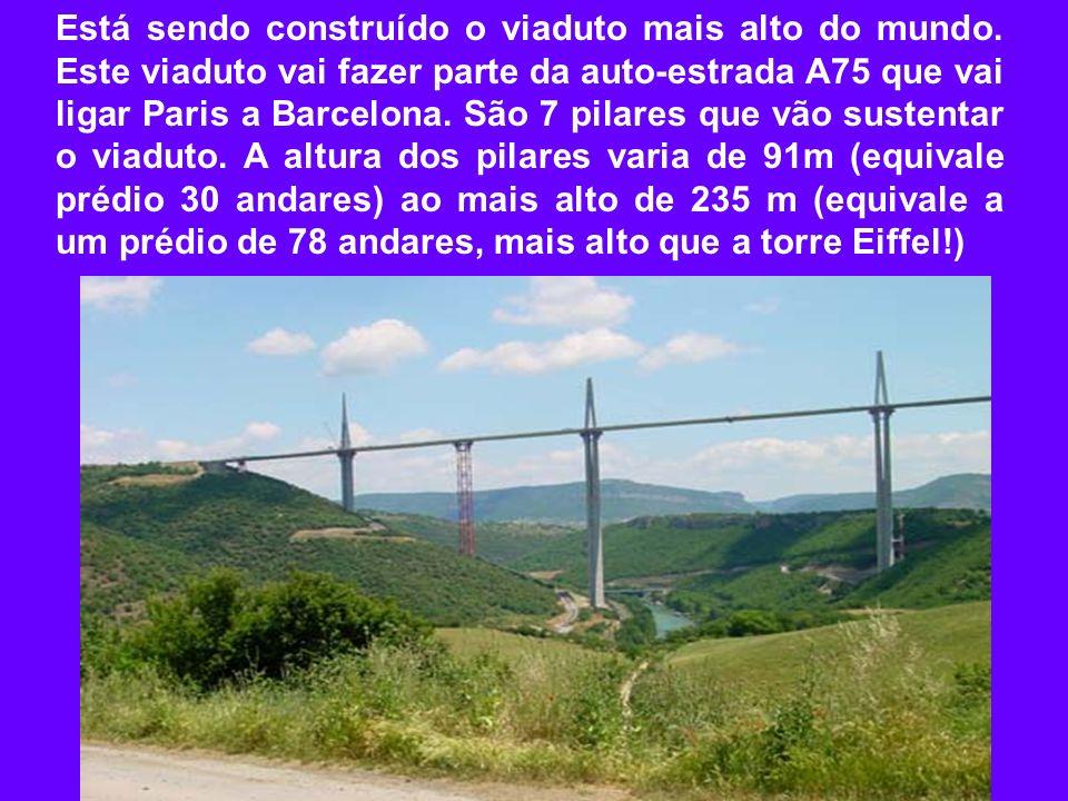 Está sendo construído o viaduto mais alto do mundo