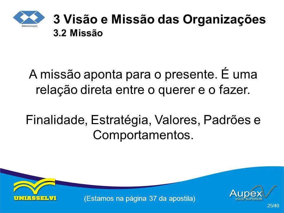 3 Visão e Missão das Organizações 3.2 Missão