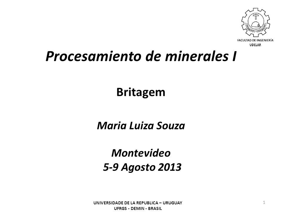 Procesamiento de minerales I Britagem