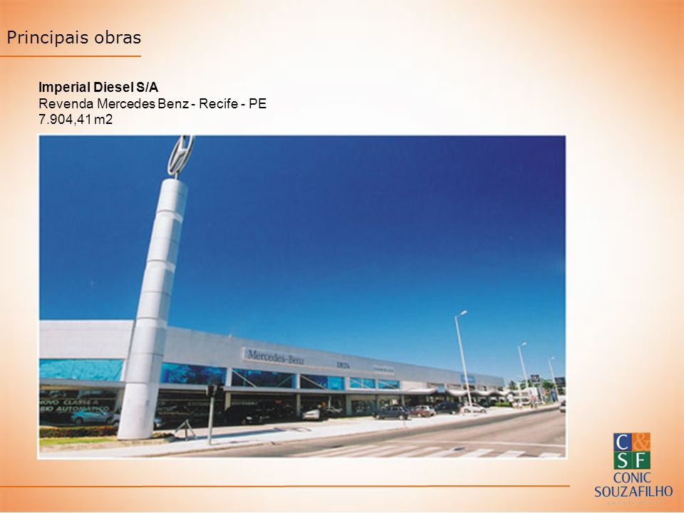 Principais obras Imperial Diesel S/A