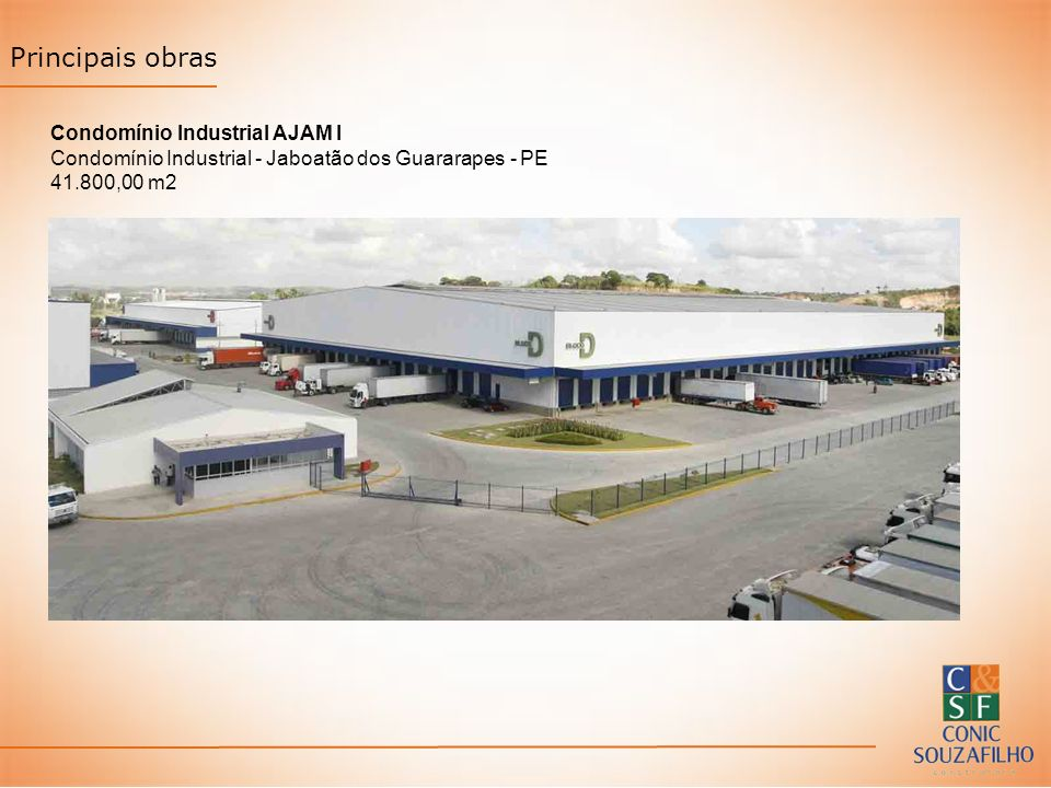 Principais obras Condomínio Industrial AJAM I