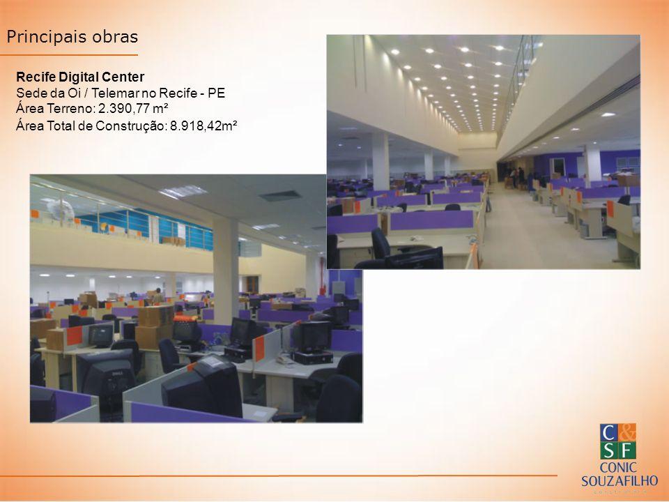 Principais obras Recife Digital Center