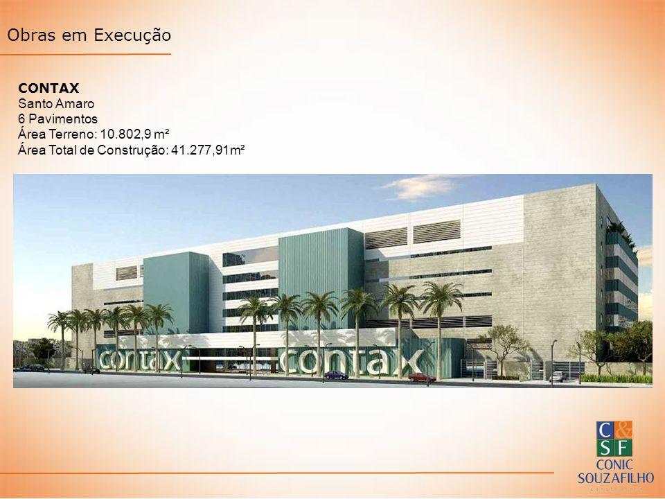Obras em Execução CONTAX Santo Amaro 6 Pavimentos