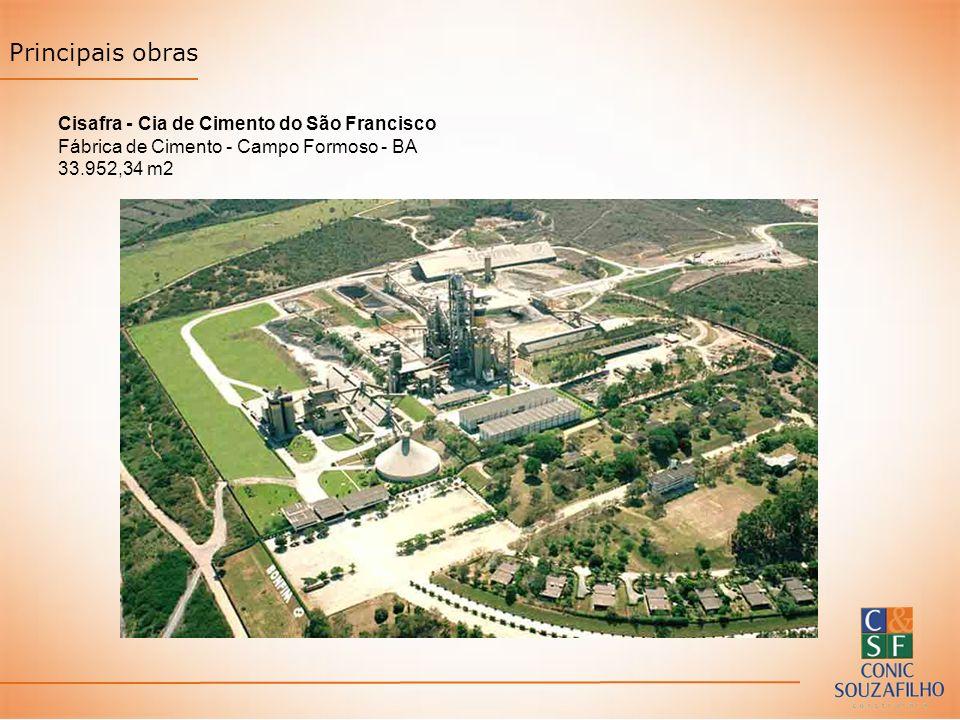 Principais obras Cisafra - Cia de Cimento do São Francisco