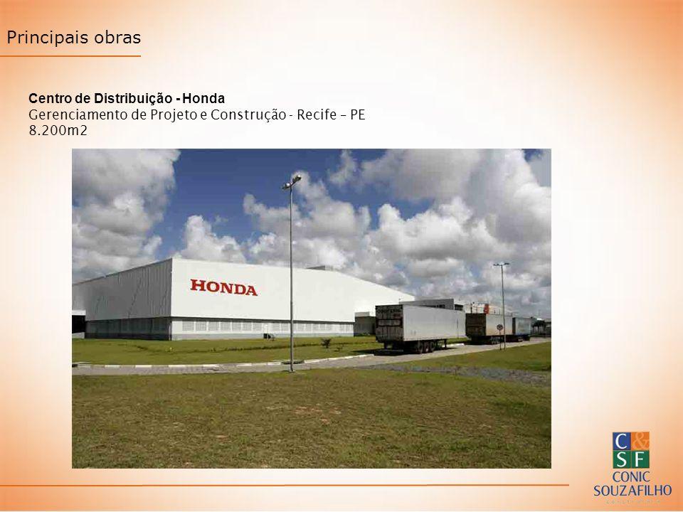 Principais obras Centro de Distribuição - Honda