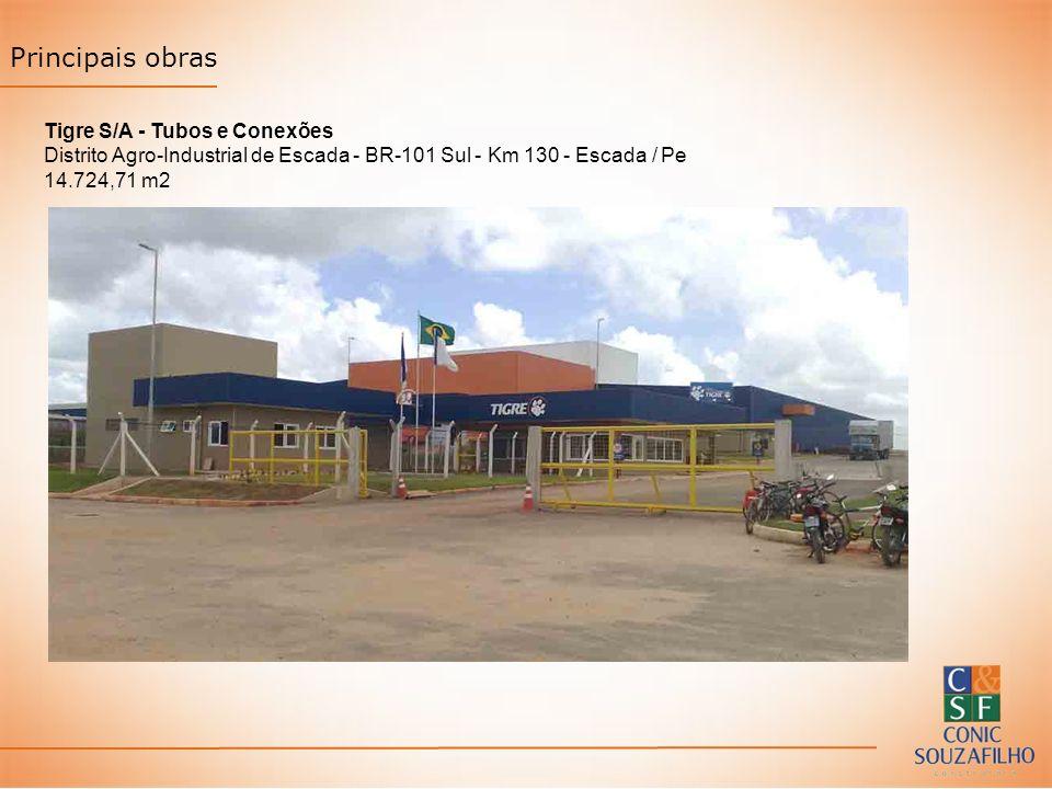 Principais obras Tigre S/A - Tubos e Conexões