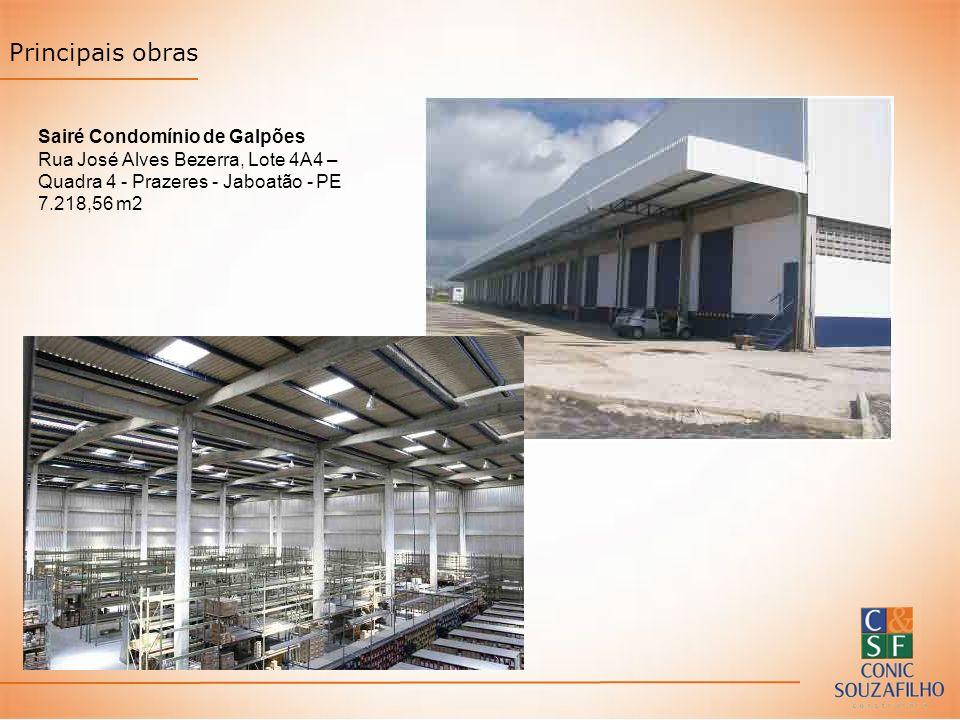 Principais obras Sairé Condomínio de Galpões