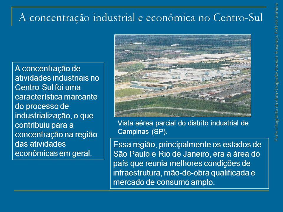 A concentração industrial e econômica no Centro-Sul
