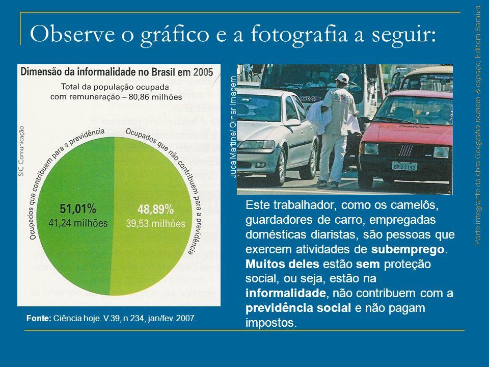 Observe o gráfico e a fotografia a seguir: