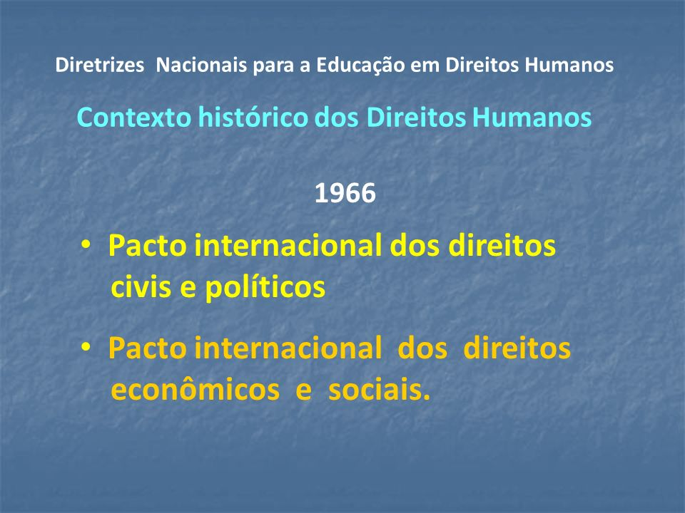 Pacto internacional dos direitos civis e políticos