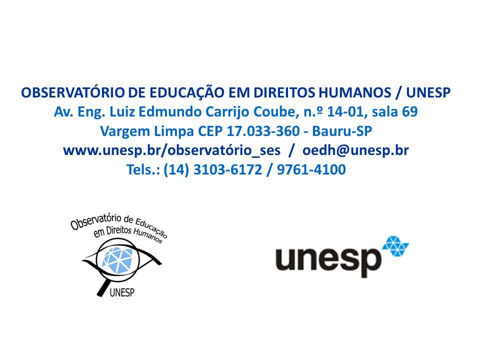 OBSERVATÓRIO DE EDUCAÇÃO EM DIREITOS HUMANOS / UNESP Av. Eng