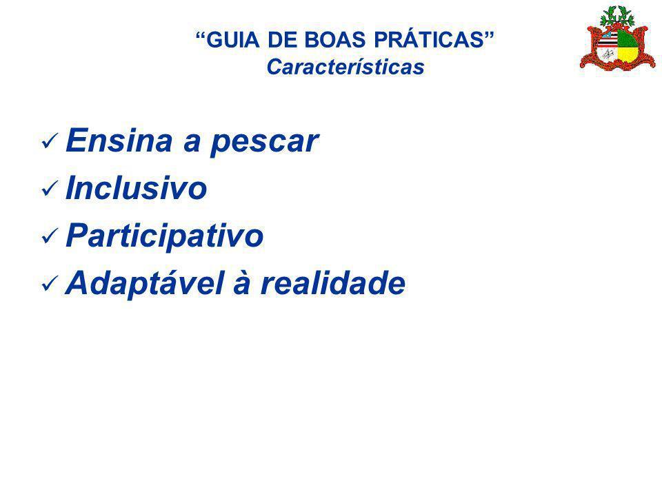 GUIA DE BOAS PRÁTICAS Características