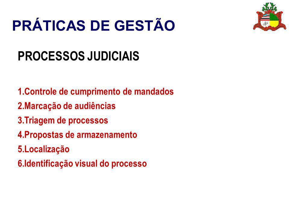 PRÁTICAS DE GESTÃO PROCESSOS JUDICIAIS