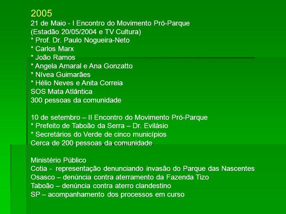2005 21 de Maio - I Encontro do Movimento Pró-Parque