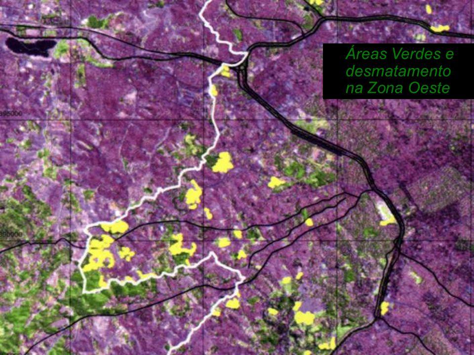 Áreas Verdes e desmatamento na Zona Oeste