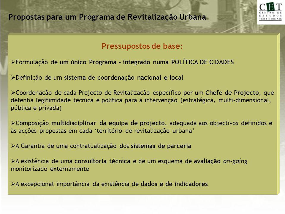 Propostas para um Programa de Revitalização Urbana