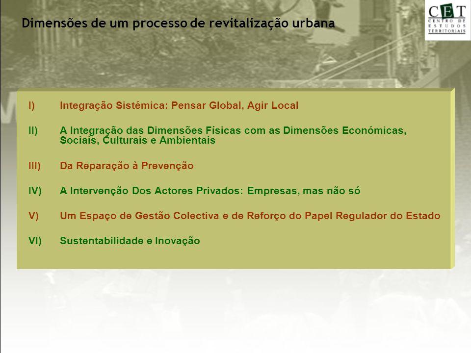 Dimensões de um processo de revitalização urbana