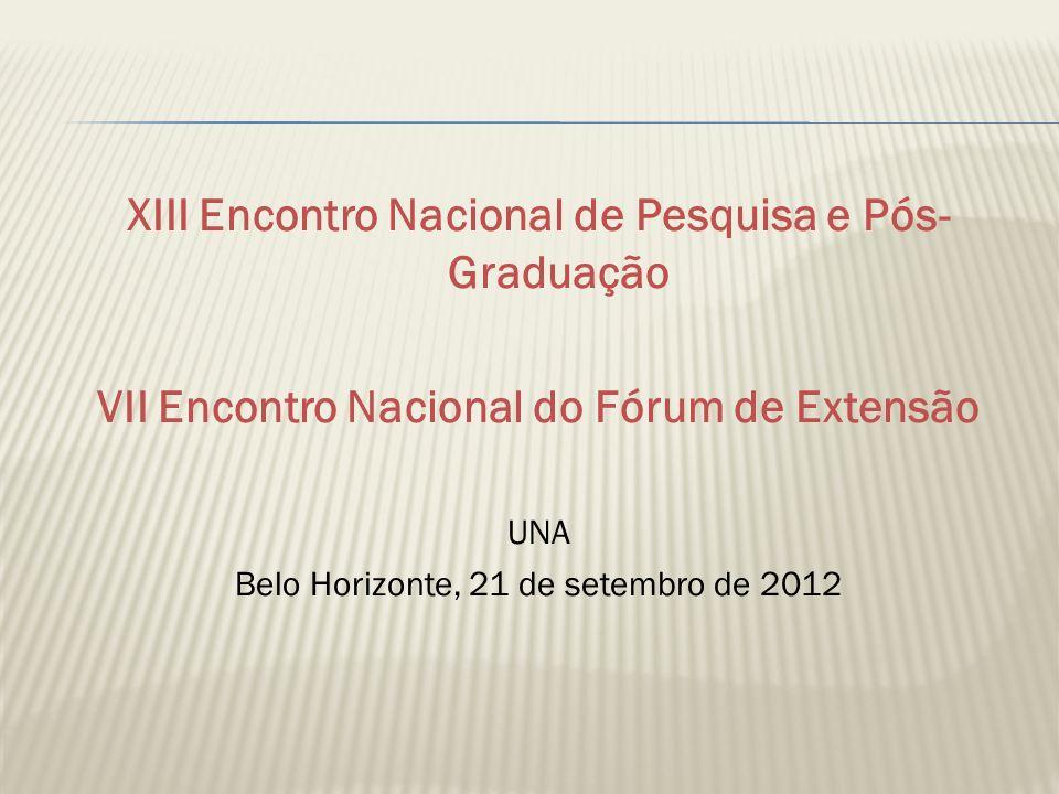 XIII Encontro Nacional de Pesquisa e Pós- Graduação