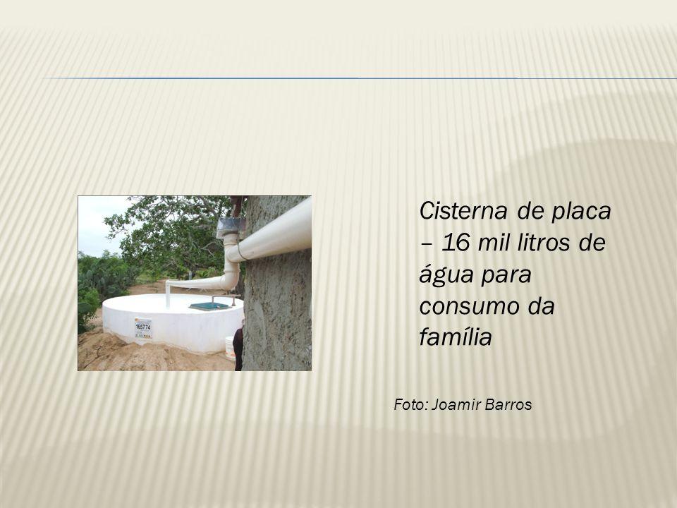 Cisterna de placa – 16 mil litros de água para consumo da família