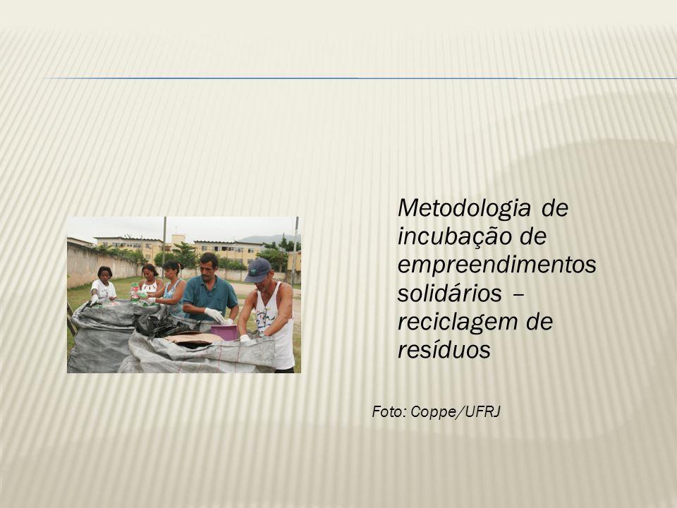 Metodologia de incubação de empreendimentos solidários – reciclagem de resíduos