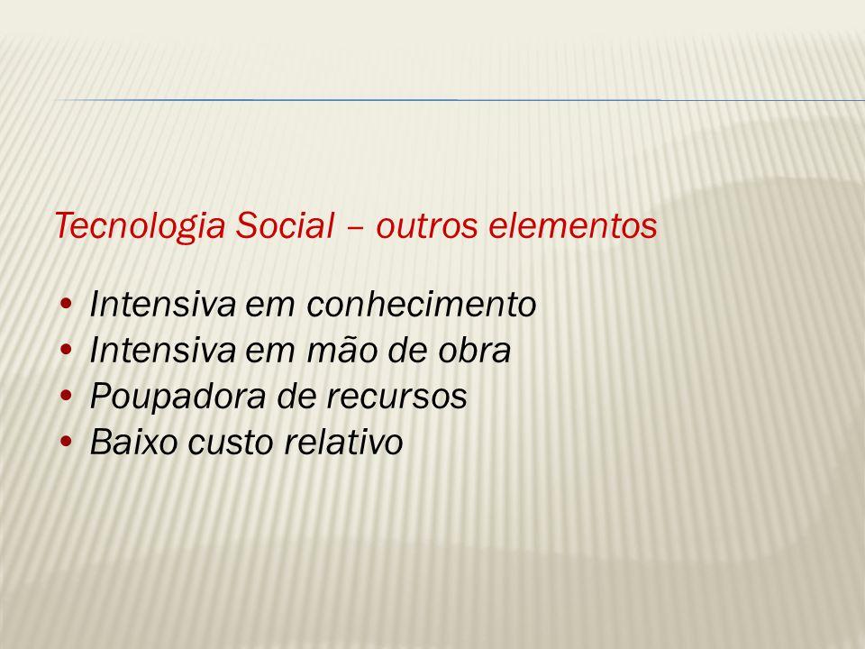 Tecnologia Social – outros elementos