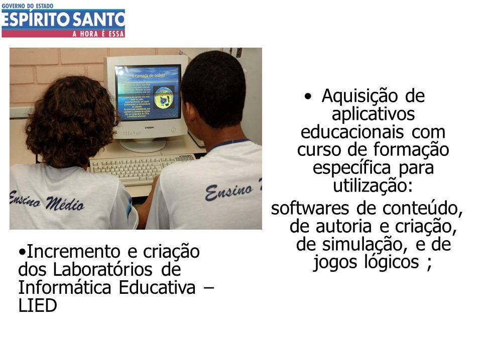 Aquisição de aplicativos educacionais com curso de formação específica para utilização: