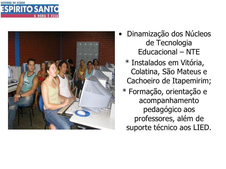Dinamização dos Núcleos de Tecnologia Educacional – NTE
