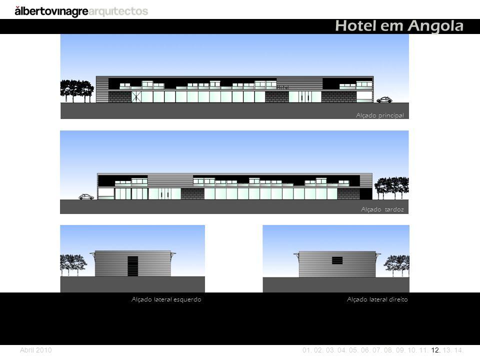 Hotel em Angola Alçado principal Alçado tardoz Alçado lateral esquerdo
