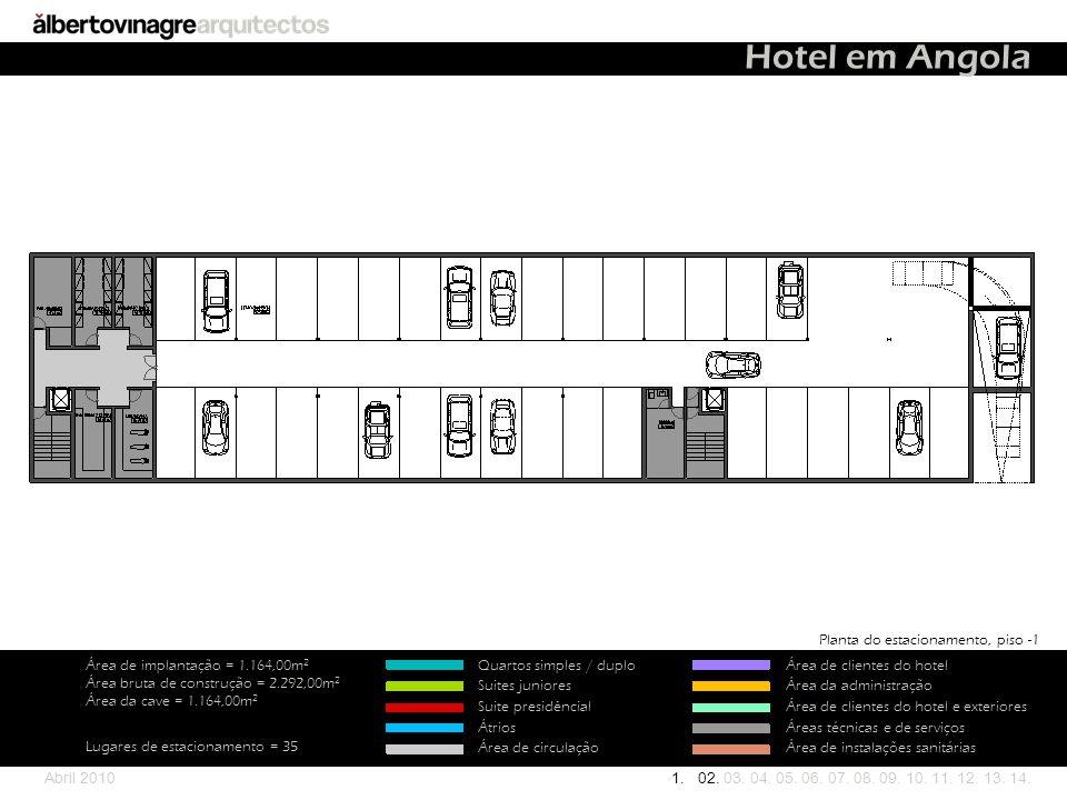Hotel em Angola Planta do estacionamento, piso -1