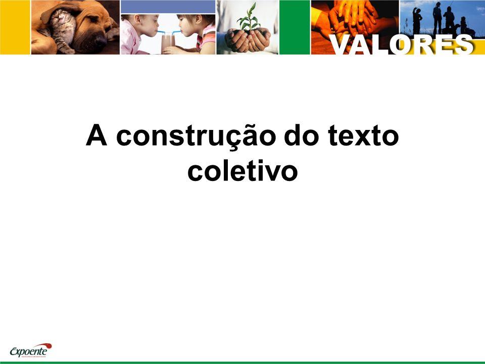 A construção do texto coletivo