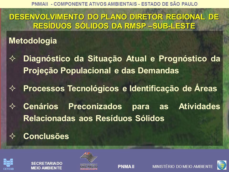 Processos Tecnológicos e Identificação de Áreas