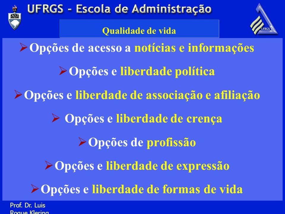 Opções de acesso a notícias e informações Opções e liberdade política