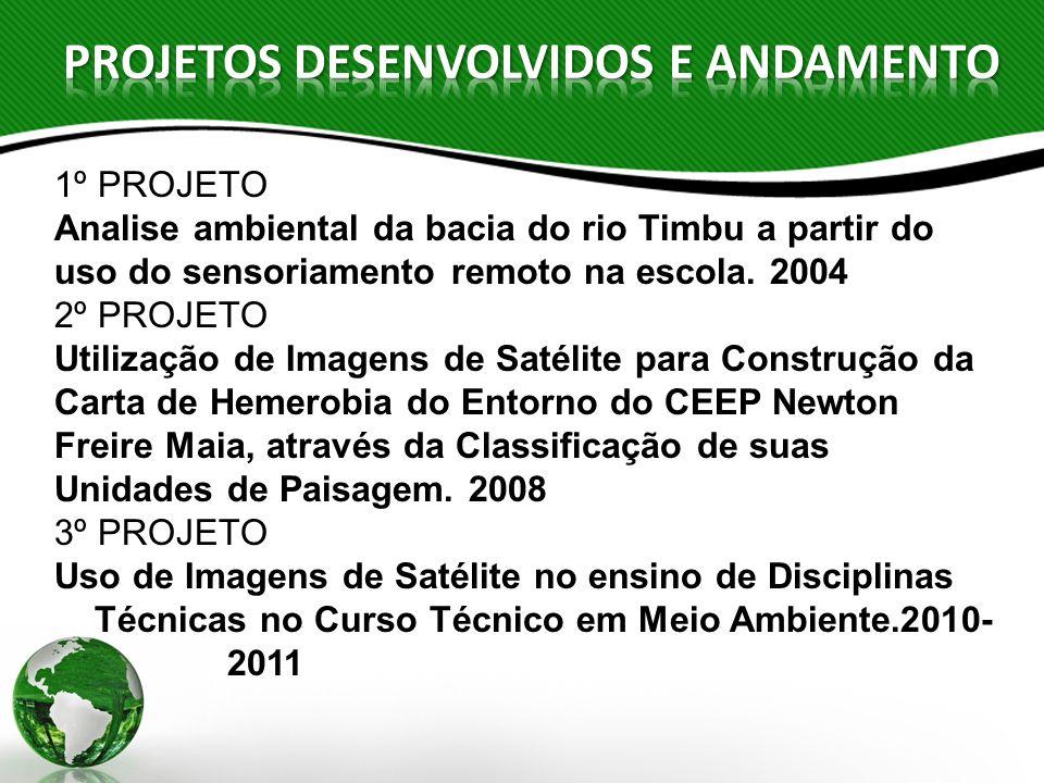 PROJETOS DESENVOLVIDOS E ANDAMENTO