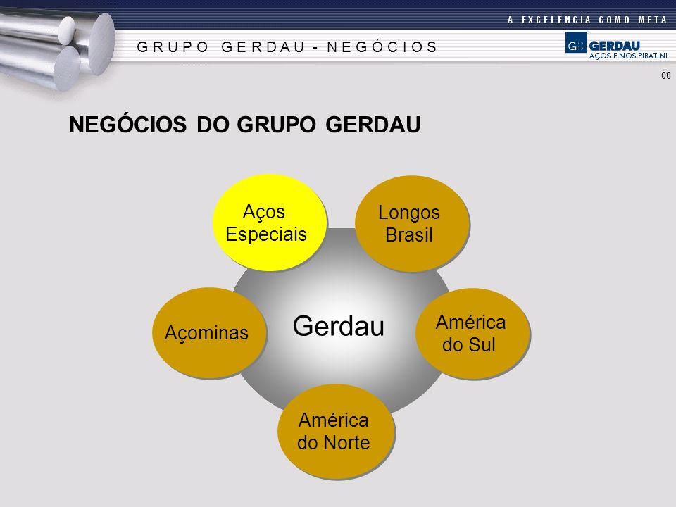 Gerdau NEGÓCIOS DO GRUPO GERDAU Aços Longos Especiais Brasil América