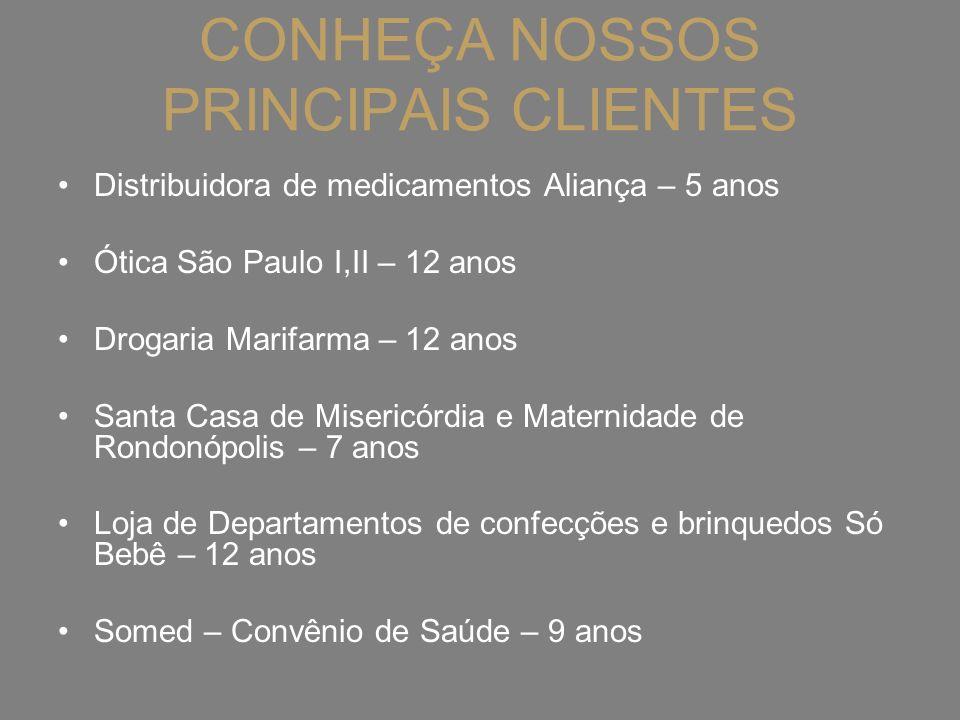 CONHEÇA NOSSOS PRINCIPAIS CLIENTES