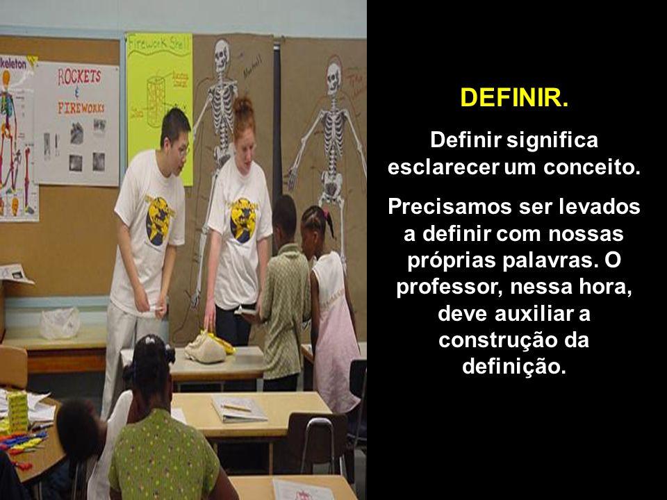 Definir significa esclarecer um conceito.