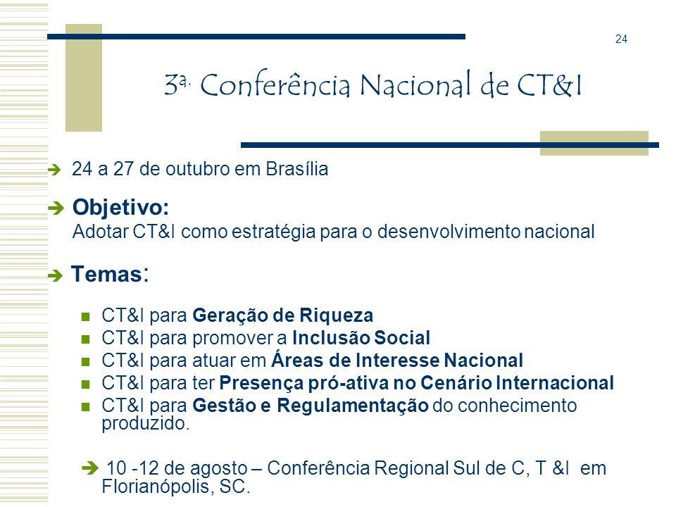 3a. Conferência Nacional de CT&I