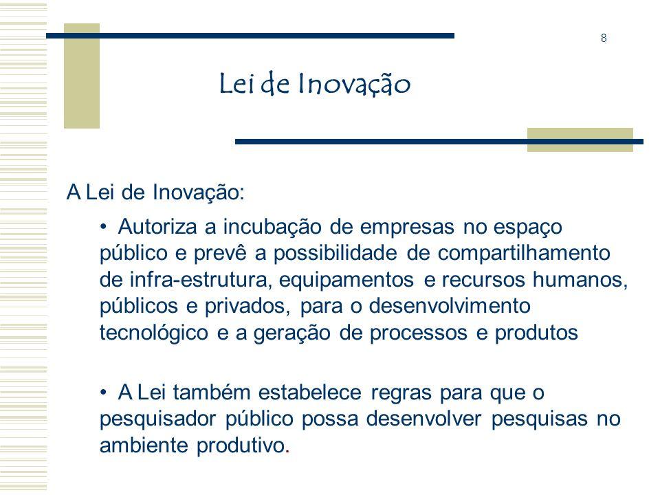 Lei de Inovação A Lei de Inovação: