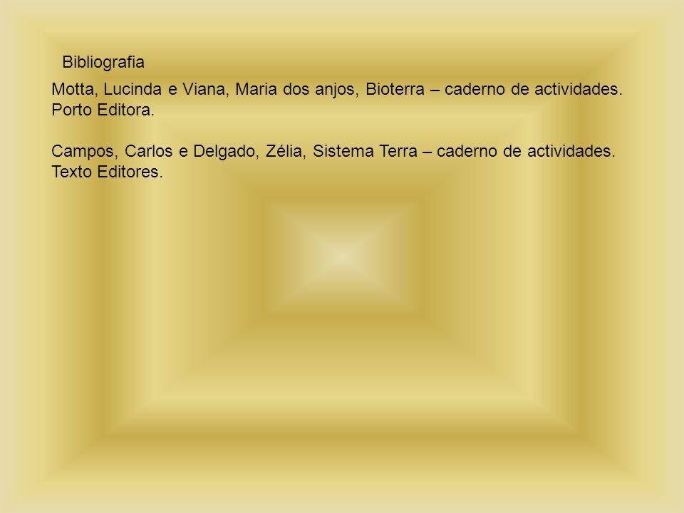 Bibliografia Motta, Lucinda e Viana, Maria dos anjos, Bioterra – caderno de actividades. Porto Editora.