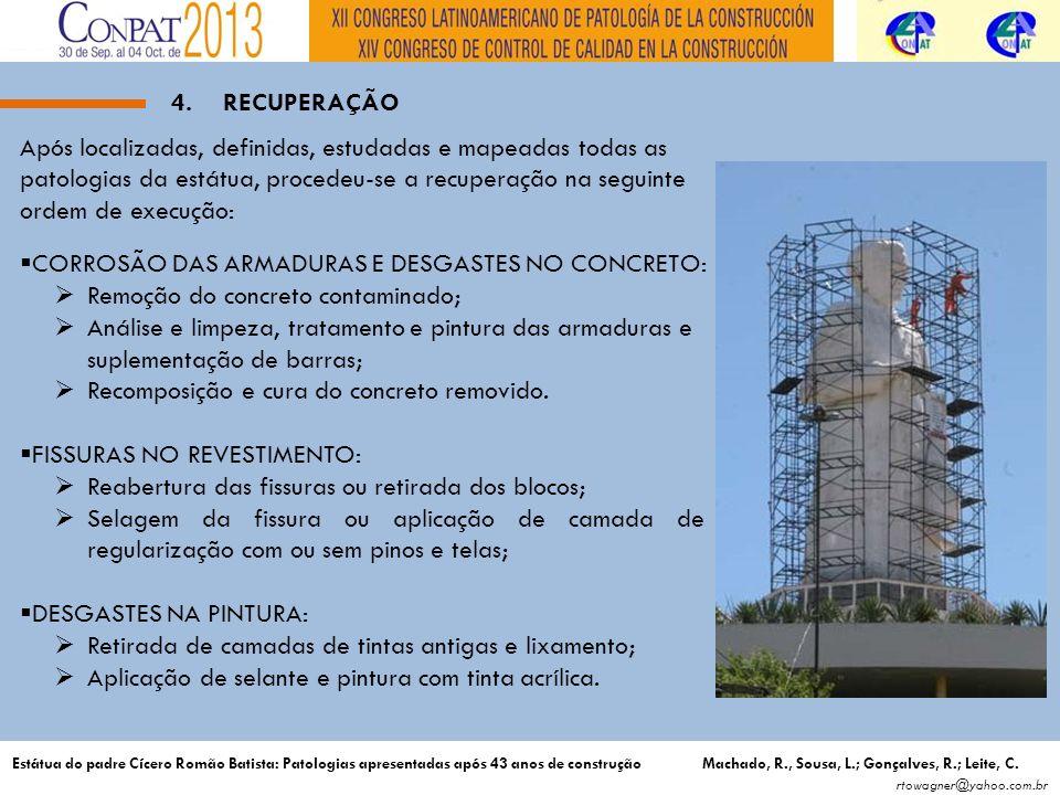 CORROSÃO DAS ARMADURAS E DESGASTES NO CONCRETO: